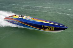 AMF jet boat underway at high speed