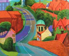 David Hockney – The road to York through Sledmere