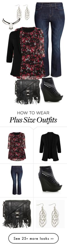 """""""plus size fall winter simple date night"""" by kristie-payne on Polyvore featuring moda, H&M, Evans, Proenza Schouler e Wet Seal"""