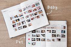 マンスリーページは予定管理以外にも! 写真ログで楽しむ、カンタン手帳の使い方 EDiTエディット 手帳 2018 新しい働き方。新しい手帳。