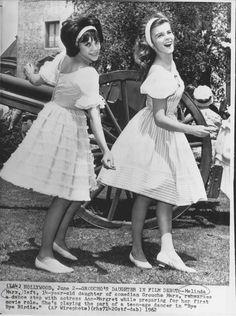 Ann-Margret And Groucho's Daughter Melinda Marx Bye Bye Birdie 1962 press photo