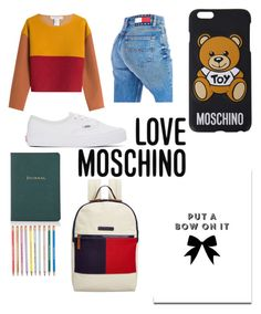 """""""BowtifulTraveler!"""" by rjizzle2247 ❤ liked on Polyvore featuring Philosophy di Lorenzo Serafini, Tommy Hilfiger, Vans, Moschino, SS Print Shop, Barneys New York and Love Moschino"""