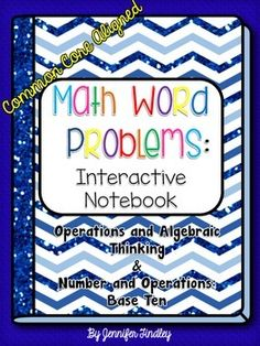 Math Interactive Notebook that focuses on Word Problems for 5th Grade