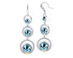 #Tacori #FallBling  SE15002 Like raindrops, these sparkling stones trickle down the cool .925 silver setting, each Sky Blue Topaz gem bigger than the next. Dress them up or dress them down, these dangling beauties are perfect paired with skinny jeans and a t-shirt or your favorite LBD!- Tacori Fall Bling