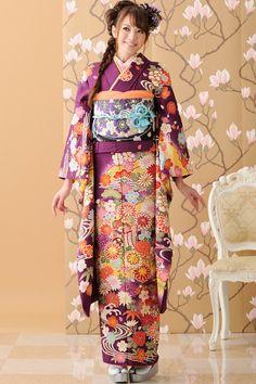 furi furisode - purple and orange!