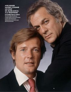 Tony Curtis and Roger Moore in the TV show The Persuaders,(1971-1972)