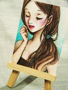 aceo, brown hair, and pretty image