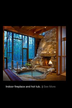 hot tub fireplace