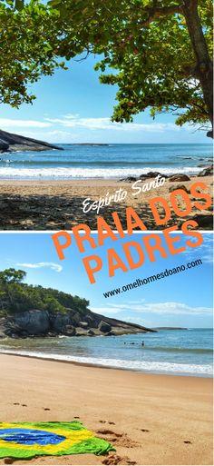 Uma das praias mais tranquilas do Espírito Santo, é rodeada por coqueiros e é quase um paraíso escondido em Guarapari. A Praia dos Padres é um lugar para quem quer aproveitar uma linda praia com muito sossego!