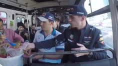 Red Bull Racing - Max Verstappen Takes The Bus In Mexico (VIDEO)