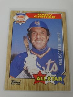 2017 Topps Series 1 87 Gary Carter All Star Buyback Rediscover Silver Stamp Card #topps #NewYorkMets