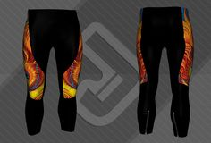 a445a9092d2 Custom cycling tights with artwork by ©Karen Balon