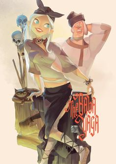 The Baba Yaga by Otto Schmidt.