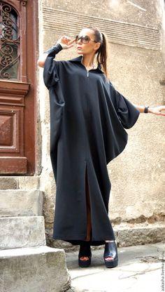 длинное платье черное платье в пол дизайнерское платье вечернее платье красивое платье модное платье стильное на молнии свободное