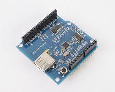 USB HOST Emartee ADK Shield For Arduino -UNO MEGA 1280 2560 Android V2.0