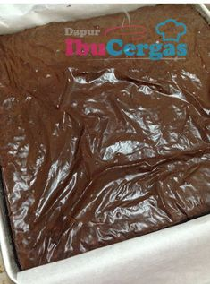 Rahsia Mendapatkan Kedut Pada Brownies Kedut - Dapur@IbuCergas.com