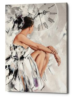 Epic Graffiti Behind The Mirror 1 Giclee Canvas Wall Art, x Ivory Ballet Painting, Ballet Art, Painting People, Dance Art, Beautiful Paintings, Painting Inspiration, Female Art, Art Pictures, Canvas Wall Art