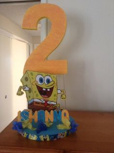 SpongeBob Centerpiece by MadisonPartyBoutique on Etsy, $30.00