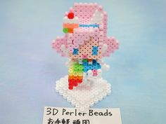 2017_1103_151842p1170729 3d Perler Bead, Pearler Beads, Perler Patterns, Clay Charms, Pixel Art, Crochet Necklace, Pretty Cure, Beading, Crafts