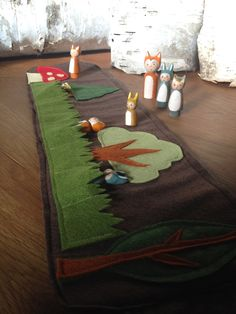 Woodland Roll Up and Play Mat for Forest Friends by Gnomewerkspdx, $28.00