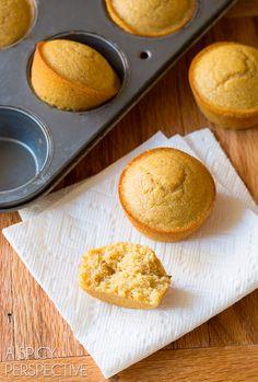 I love these Honey Cinnamon Cornbread Muffins on ASpicyPerspective.com