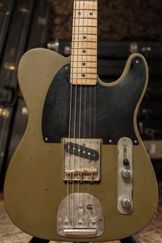"""Custom Tele For A Special Client. """"This is a custom guitar I made for Joe Trohman of Fall Out Boy. It's got a weird, textured milk paint finish. It was an experiment, but it worked so well that I..."""