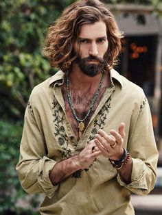New Ideas For Style Bohemian Men Guys Indie Outfits, Outfits Hombre, Blue Outfits, 1950s Outfits, Retro Outfits, Spring Outfits, Casual Outfits, Festival Mode, Festival Shirts