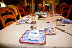 Table and individual cake
