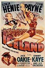 Poster for ICELAND with Sonja Henie and John Payne (1942). Figure Skating Movies, Great Movies, New Movies, John Payne, Classic Movies, Vintage Movies, Deadpool Videos, Iceland, Musicals