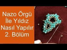 How to make stars with Nazo weaving Part Beading Tutorials, Beading Patterns, Beaded Jewelry Designs, Peyote Beading, Flower Center, Hair Beads, Peyote Stitch, Celtic Knot, Beaded Earrings