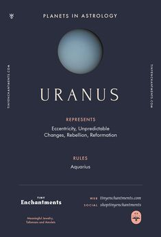 Uranus Sign in Astrology – Planet Meaning, Zodiac, Symbolism, Characteristics – Astrologie Astrology Planets, Learn Astrology, Astrology Numerology, Astrology Chart, Astrology Zodiac, Astrology Signs, Zodiac Signs, Saturn Astrology, Zodiac Planets