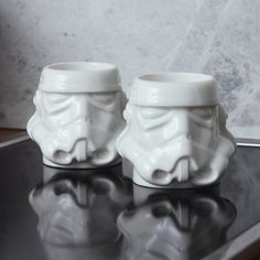 Buy Stormtrooper - Original Stormtrooper Mug Set online and save! Sky rocket your morning and start the day off on a high with a shot from these Original Stormtrooper Espresso mugs. The set of 2 ceramic mugs come pac. Coffee Cup Art, Coffee Mugs, Cadeau Star Wars, Expresso, Cute Mugs, Ceramic Mugs, Mugs Set, Mug Cup, Gifts In A Mug
