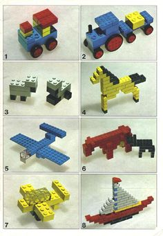 Lego: Eenvoudige legobouwsels voor kleuters