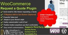 "The WooCommerce Request a Quote plugin for WordPress allows your visitors/customers to add products to a wishlist and submit an easy ""request for a quote"