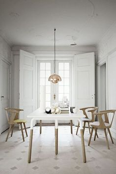 &Tradition Flowerpot Pendant Light by Verner Panton. The original small version of this iconic pendant design. Scandi Living, Home Living, Living Spaces, Interior Inspiration, Room Inspiration, Sunday Inspiration, Interior Ideas, Sweet Home, Interior And Exterior