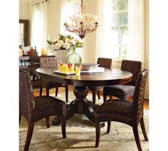 We have a very similar table. I want to update it with these seagrass chairs.