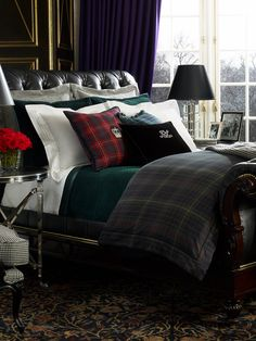 Splendid Ralph Lauren Deauville Comforter Bedding Chic Sheets Blankets Or Tartan Our Thoughts Go Straight To Sweaters And Miniskirts But Is Changing That Tune With Its Luxe Collection Includes Plaid Bedding, Tartan Bedding, Home, Ralph Lauren Bedroom, Bedroom Design, Bedroom Inspirations, Bed, Luxury Bedding, Ralph Lauren Bedding