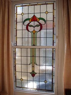 edwardian stained glass-Ed104