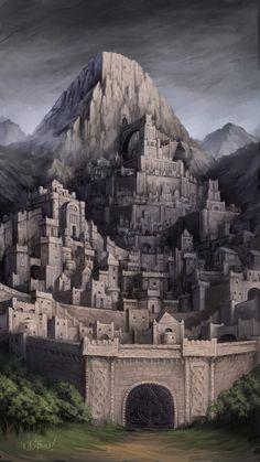 2 El Fuerte de Hierro, la ciudad que se levanta sobre la montaña solitaria de Rhengam. Es famosa por sus herrerías y sus minas de hierro. De aquí se dice que proviene el acero más fuerte de todo Vanhadun.