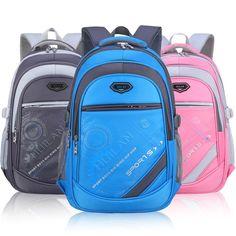 63e06575a4 5 Colors Children Boys Girls Waterproof Sport Backpack Bookbag Travel  Rucksack School Bag