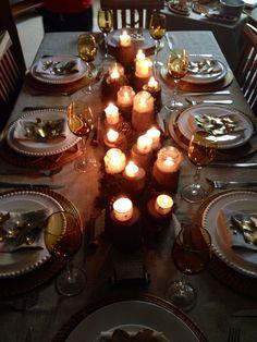 Decoração de mesa Natal