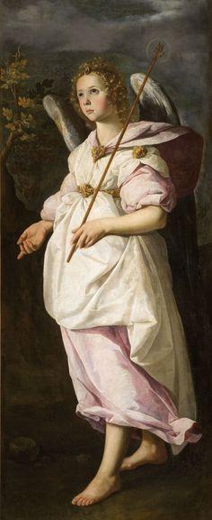 Gabriel The Archangel by Francisco de Zurbaran Baroque Painting, Baroque Art, Spanish Painters, Spanish Artists, Religious Paintings, Religious Art, Caravaggio, Francisco Zurbaran, Christian Morgenstern
