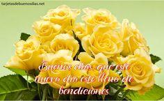 imágenes de buenos días con rosas amarillas