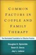 Description: This pragmatic book addresses critical questions of how change occurs in couple and family therapy and how to help clients achieve better results. The authors show that regardless of a clinician's orientation or favored techniques, there are particular therapist attributes, relationship variables, and other factors that make therapy-specifically, therapy with couples and families-effective.