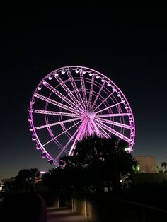 The Sky Wheel in Myrtle Beach lights up in a rainbow of colors each night along the Myrtle Beach Boardwalk.