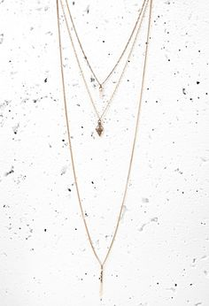 Engraved Pendant Necklace Set | Forever 21 - 1000053876