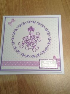 Tattered lace mannequin cut from glitter card