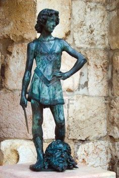 King David statue. Citadel - Old City, Jerusalem, Israel - Explore the World with Travel Nerd Nici, one Country at a Time. http://TravelNerdNici.com