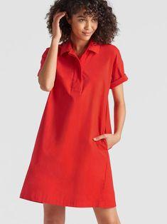 b3a0b7a9f2 Organic Cotton Poplin Shirt Dress | EILEEN FISHER Eileen Fisher, Poplin,  Organic Cotton