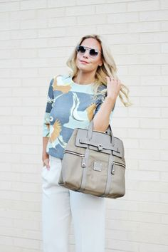 Bethany of BSoup matches her Zoey Sunnies to her Jetsetter Convertible Backpack.